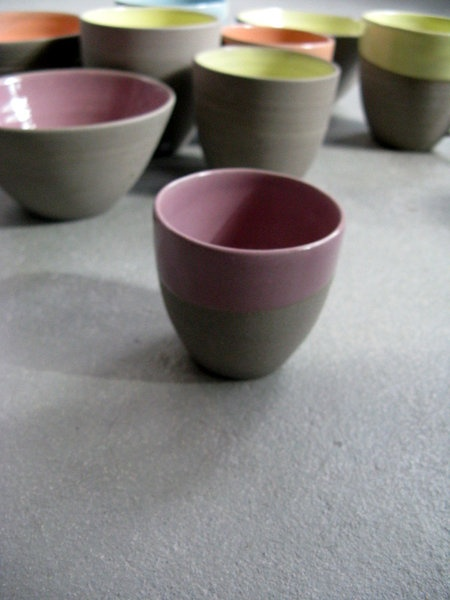 Ohhh a yummie new color added to the Stone & Color collection espresso cups. Lilac it is!!