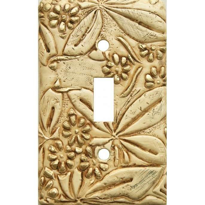 mosaico carved flowers decorative light switch plate - Decorative Light Switch Covers