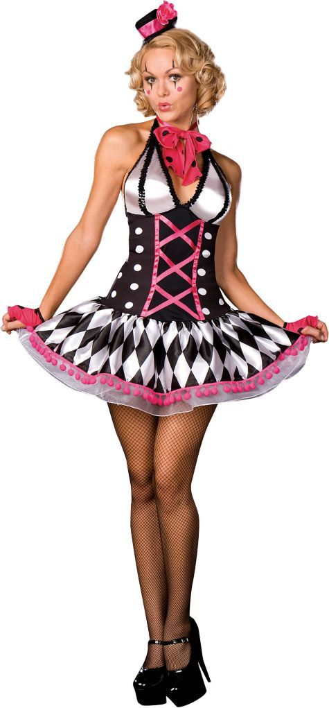 Adult Harlequin Honey Circus Clown Costume - Clearance Costumes - Womens Costumes - Halloween Costumes - Categories - Party City