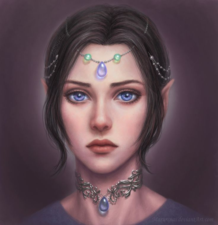 Elf girl portrait by marurenai.deviantart.com on @DeviantArt