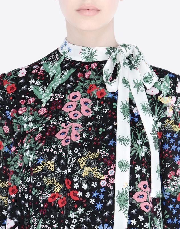 Modern Colorist - Valentino - Midnight Garden - Dress In Camugarden Georgette