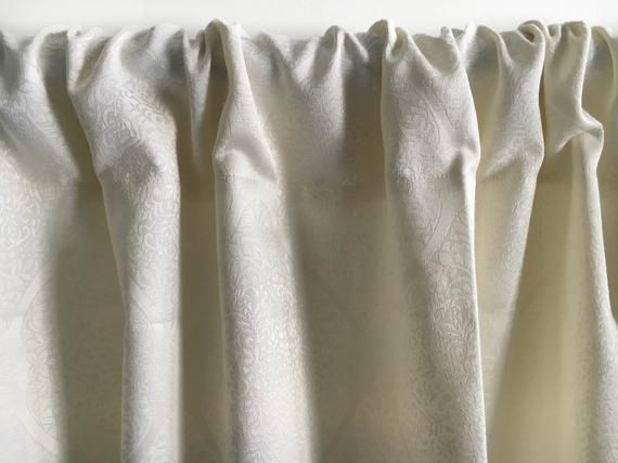 White Boho curtain panels, Blackout curtains, Window curtain, White Silk curtain, Bohemian Door curtains Kitchen curtain 84 96 108 120 inch
