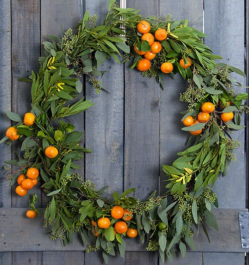 diy winter citrus wreath