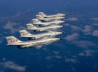 A formation of CF-101 Voodoos