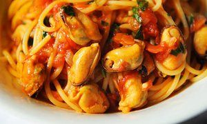 food Angela Hartnett mussels with spaghetti and tomato sauce