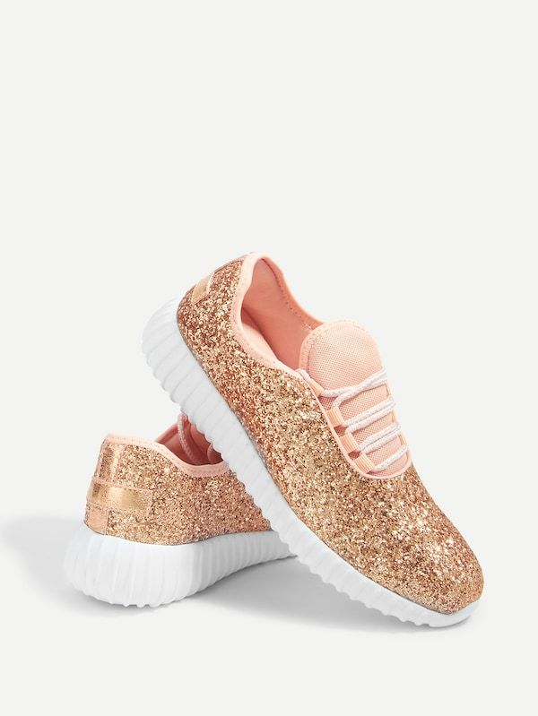 1ec878f475 Glitter Lace Up Trainers -SheIn(Sheinside) | Cait's Birthday in 2019 ...