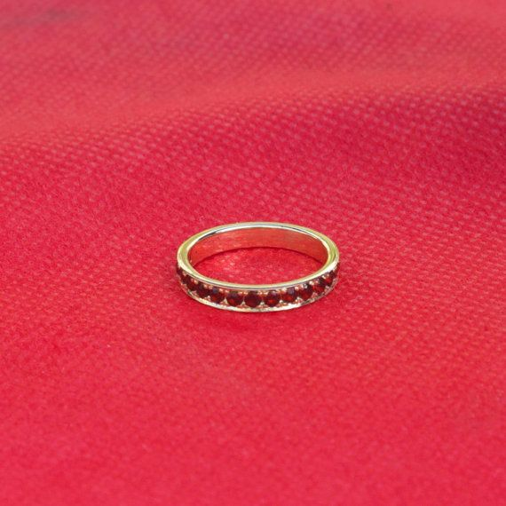 14k Yellow Gold Ring with Birthstones