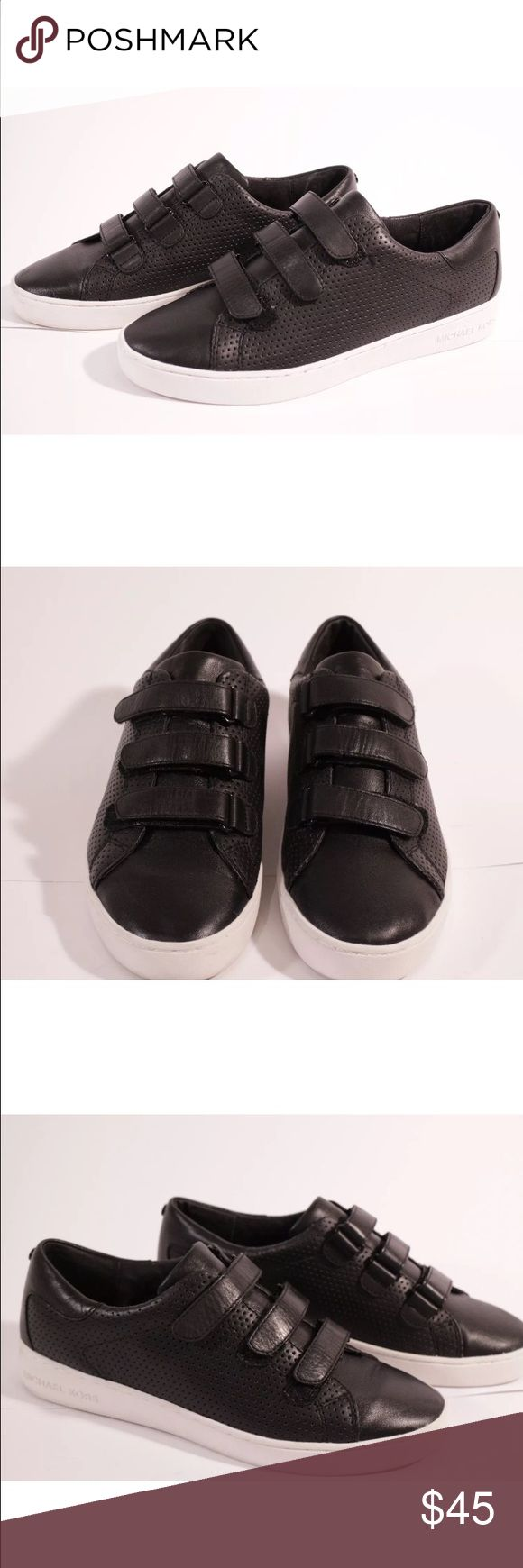 Michael Kors black leather sneakers In excellent condition. Authentic, genuine leather Michael Kors Shoes Sneakers