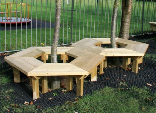 Best 25 Tree Seat Ideas On Pinterest Tree Bench Deck Ideas With Trees And Landscaping Around