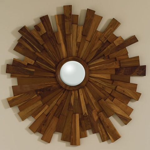 Pretty mirror for very high wall space above entrance to kitchen  Google Image Result for http://www.hazelnutneworleans.com/images/GV-wood-starburst.jpg