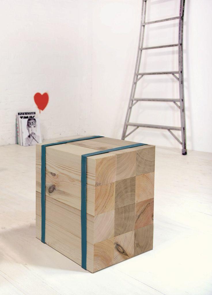 Low wooden #stool KLOEZZE by SUPERGRAU®