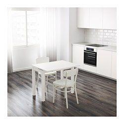 IKEA - BJURSTA, Uittrekbare tafel, Incl. 2 uittrekbare bladen.Eettafel met 2 uittrekbladen; biedt plaats aan 1-2 personen en je kan de grootte van de tafel naar behoefte aanpassen.De uittrekbare tafelbladen bieden praktische werkruimte en zijn goed toegankelijk onder het tafelblad opgeborgen.Het blank gelakte oppervlak is makkelijk af te nemen.Perfect te gebruiken als bijtafel tegen de wand.