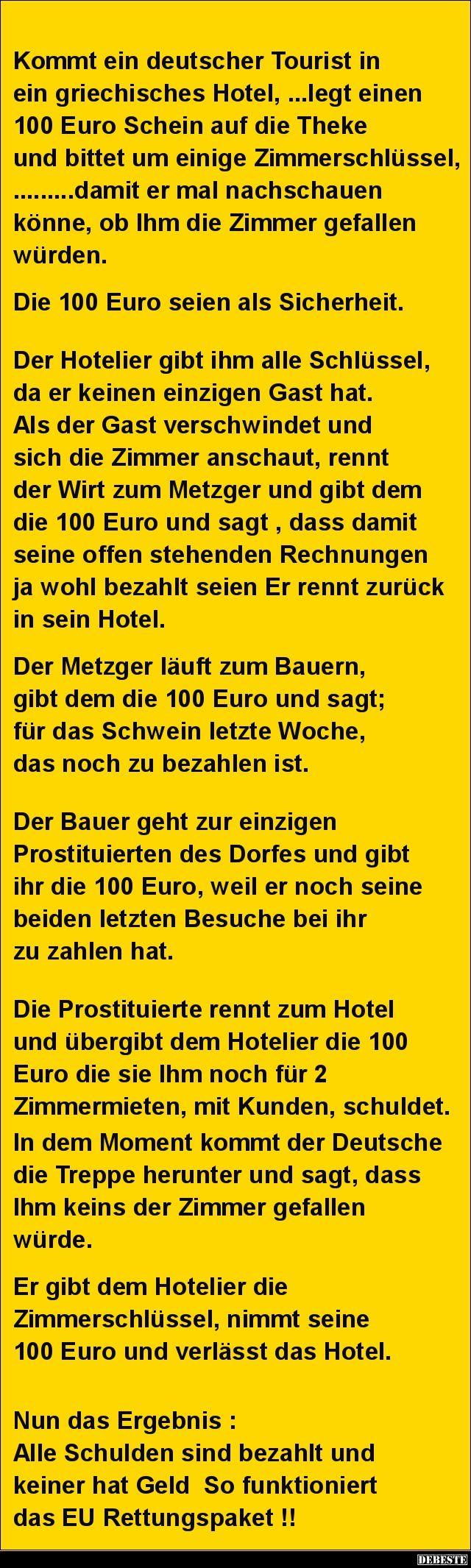 Kommt ein deutscher Tourist in ein griechisches Hotel.. | DEBESTE.de, Lustige…