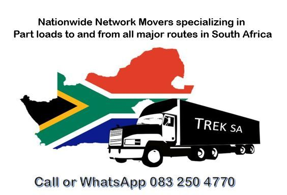 Nationwide Network Movers specializing in part loads to and from all major routes in South Africa . Contractors welcome.
