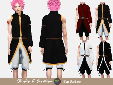 Fairy Tail Natsu Dragneel's Outfit [#ts4_adult_fullbody