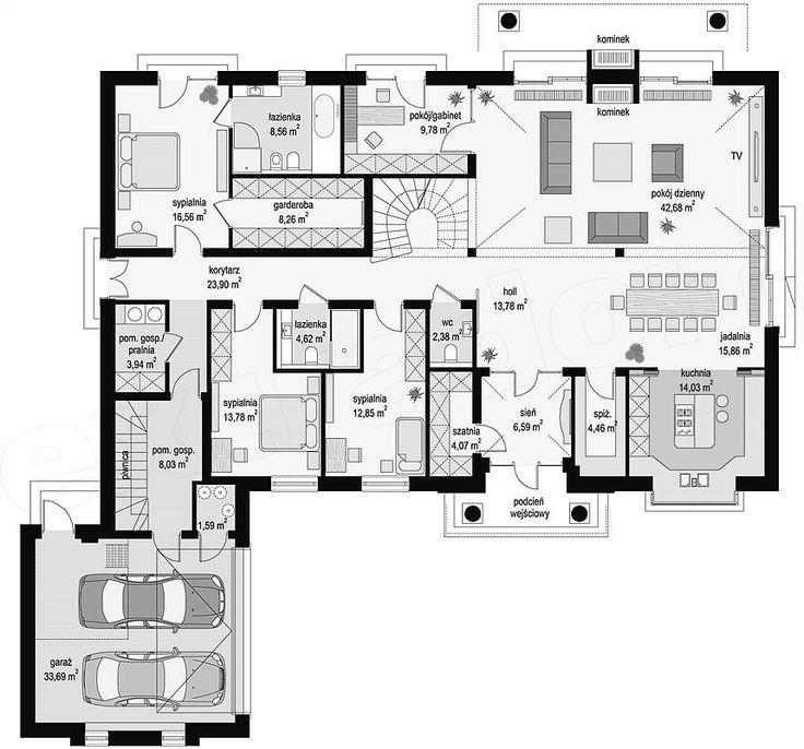 Prízemie plán projektu Rezidencia Parkowa 3