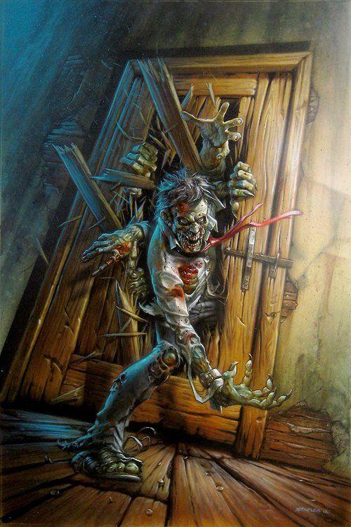 zombies, art illustration