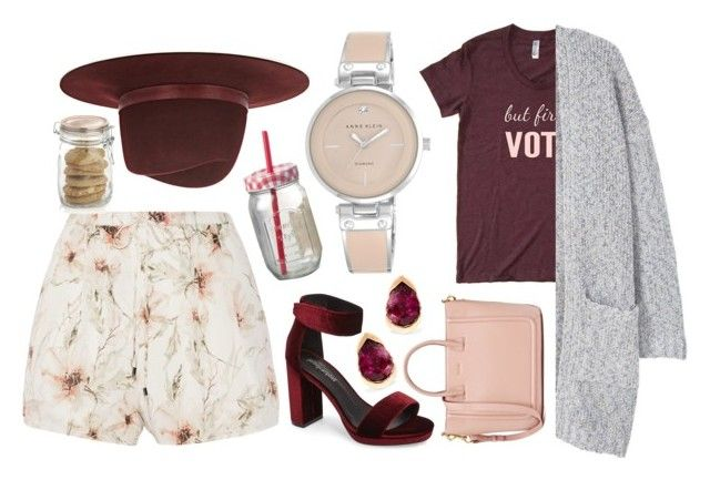 """burgundy 2pring"" by cs1gusz on Polyvore featuring Jeffrey Campbell, Haute Hippie, Anne Klein, MANGO, Janessa Leone, Crate and Barrel, Parlane and Fernando Jorge"
