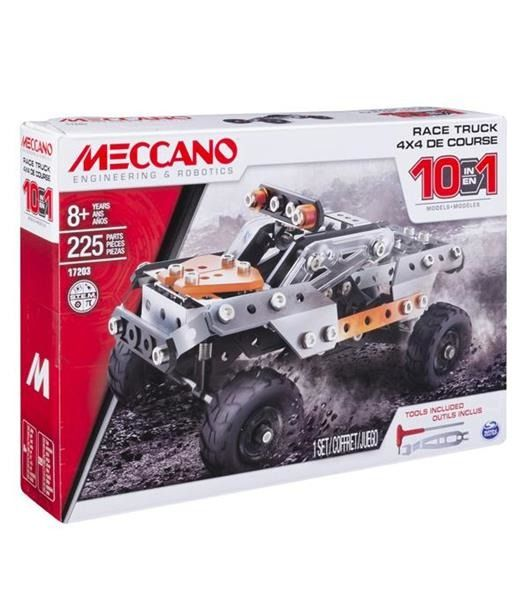 Meccano Model 10 w 1 Auto Ciężarowe Wyścigówki