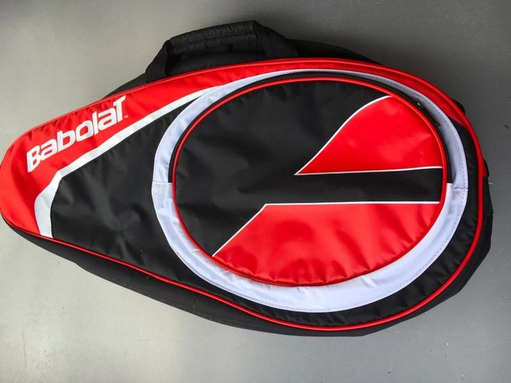 Babolat  Tennis Bag - 2 RACKET  Pack  WITH EXTRA SIDE COMPARTMENT PRE OWNED #Babolat