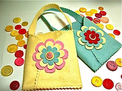 80 best felt crafts bags images on pinterest felt crafts sweet springtime gift pocket the nieces would love these negle Image collections