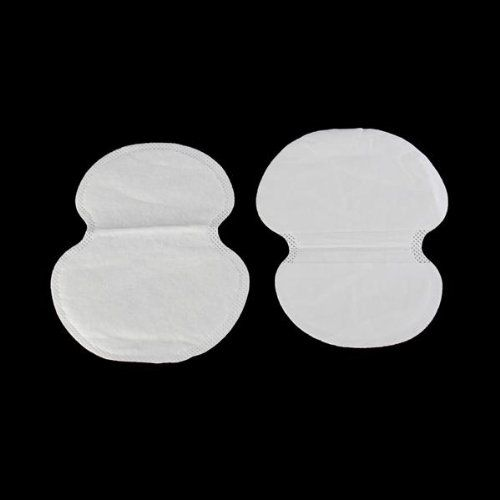 JEYL 2X 30pcs mat absorbent perspiration 110x120mm under the armpits White
