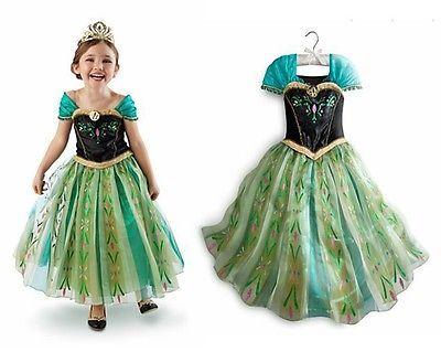 New frozen disfraz princesa Ana coronación carnaval/ cosplay princess ana
