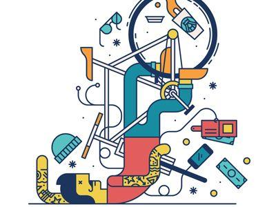 #Hiptster #illustration