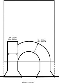 Semi circle driveway google search ideas for the house for 2 and a half car garage dimensions