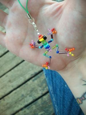 Rainbow Frog Cell Phone Charm!!