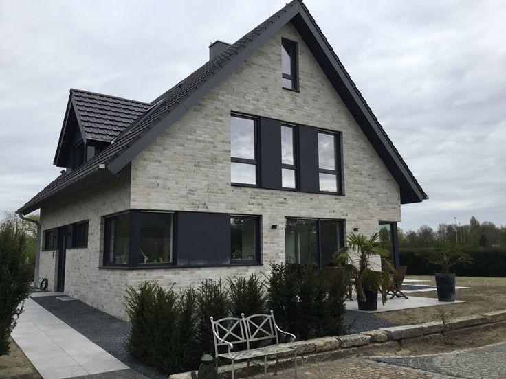 Verblender / Klinker Verblender K410-NF / Klinker / Fassade / grau weiss nuanciert