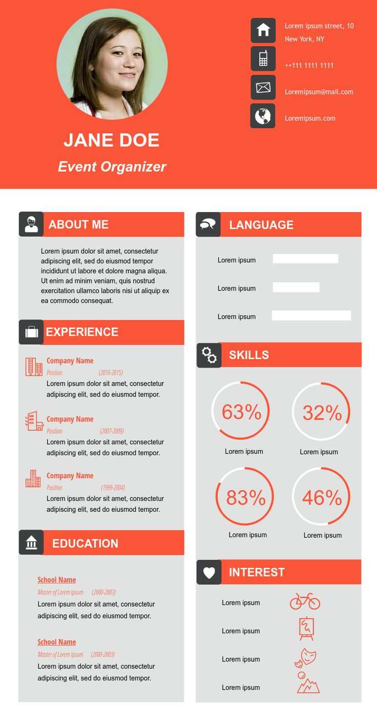 Best Infographic Resume Ideas Images On   Infographic