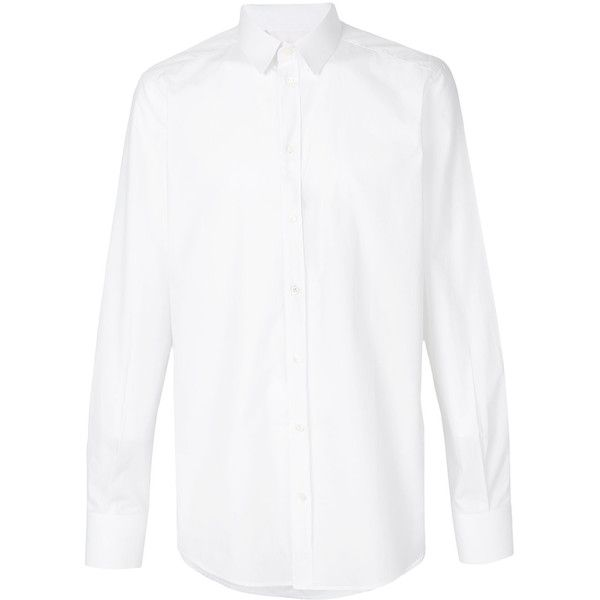 Dolce & Gabbana formal shirt ($345) ❤ liked on Polyvore featuring men's fashion, men's clothing, men's shirts, men's dress shirts, guy, tops, white, mens long sleeve dress shirts, mens curved hem t shirt and guy harvey mens shirts