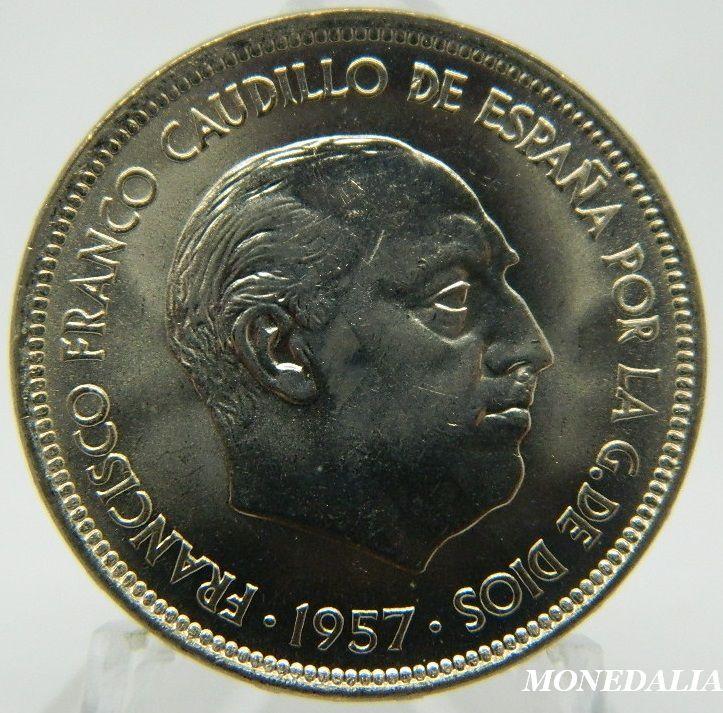 1957 71 Franco 50 Pesetas Sc Valor De Monedas Antiguas Monedas Moneda Española