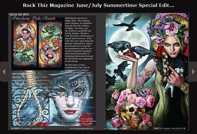 #Italian #Artist Italia Ruotolo Art featured on the special edition of Rock Thiz Magazine! #Art #OilPainting on #Canvas #Italy http://www.magcloud.com/browse/issue/774451