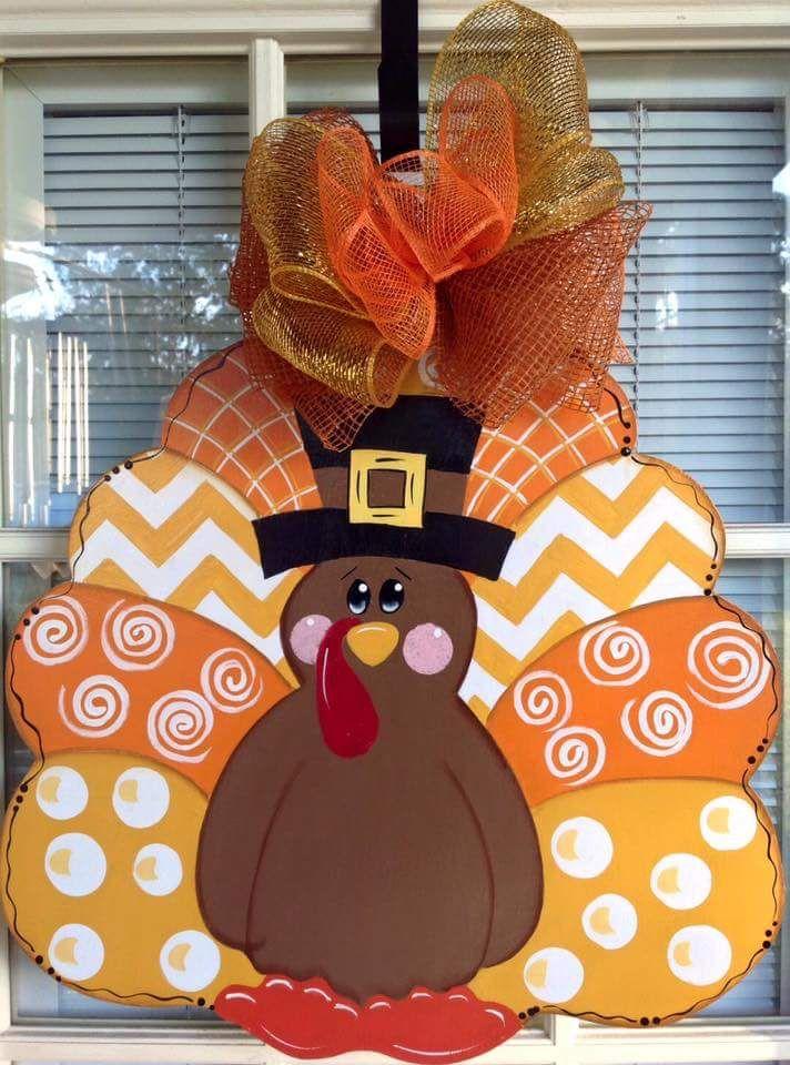 Thanksgiving Turkey Door Hanger By Samthecrafter On Etsy