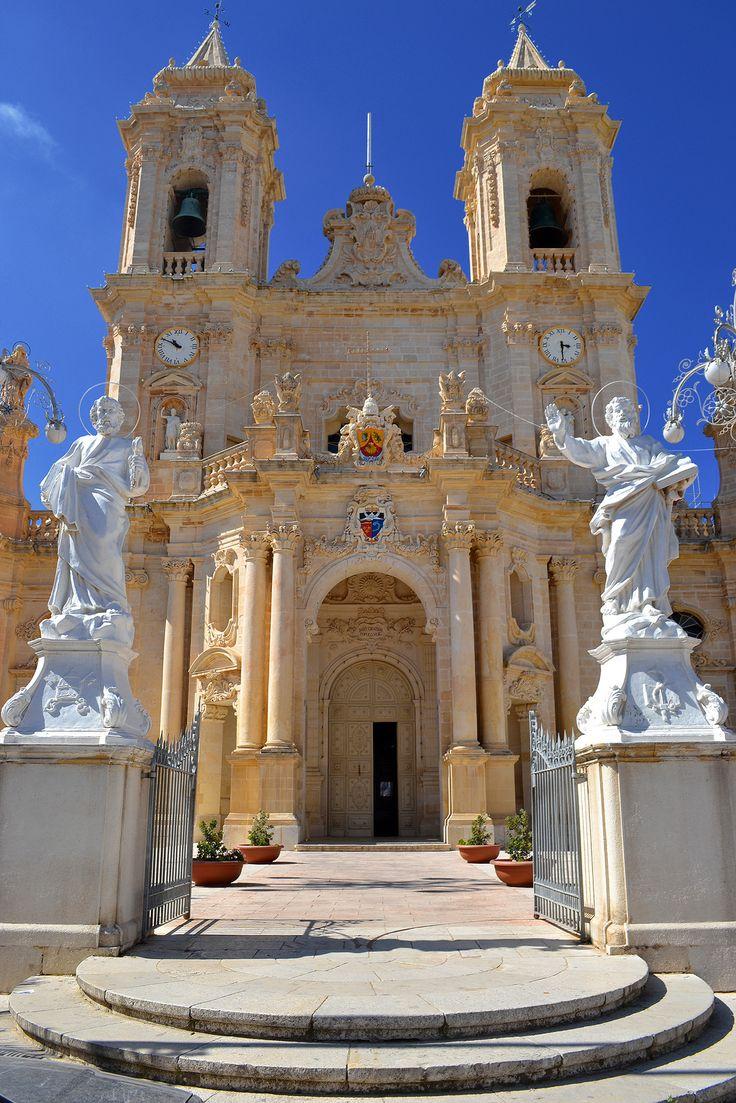 The parish church of the village of Zabbar in Malta