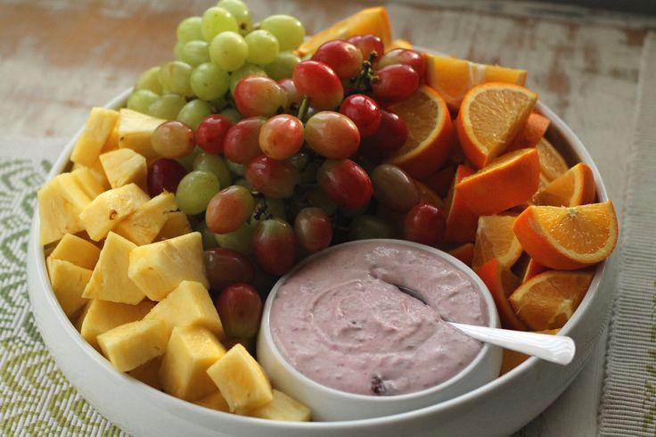 Berry-Lime Yogurt Fruit Dip ~ Cool Weather Fruit Platter ...