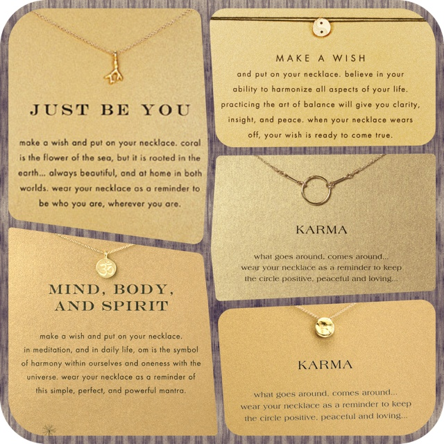 Dogeared Jewellery - Just Be You, Make A Wish, Karma, Mind Body and Spirit