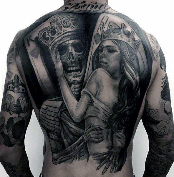 50 Ehrfürchtig Zurück Tattoos Für Männer – Maskuline Design Ideen
