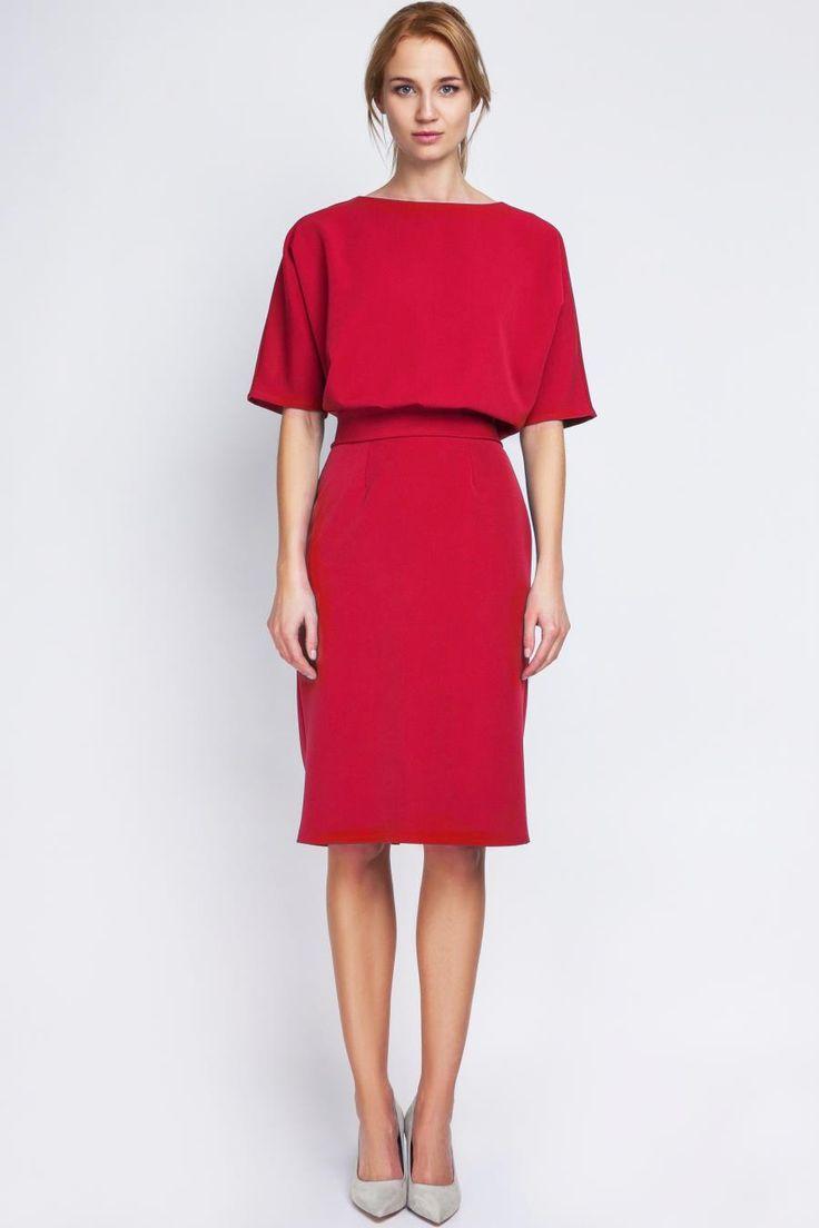 Elegancka Sukienka Czerwona LSUK123
