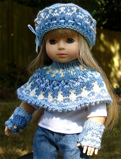 1000+ images about american girl doll knitting ponchos ...