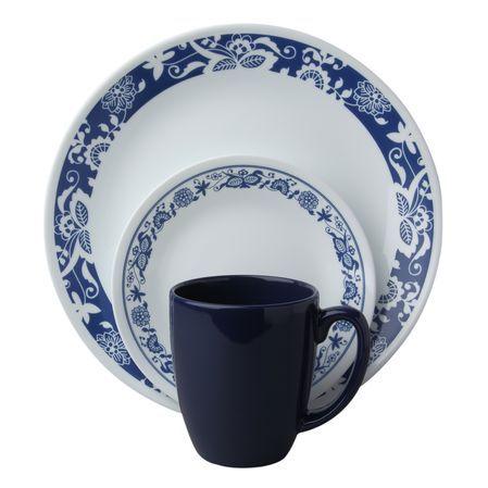 Corelle Livingware True Blue16 Pc Dinnerware Set Perfect For Your Patrio