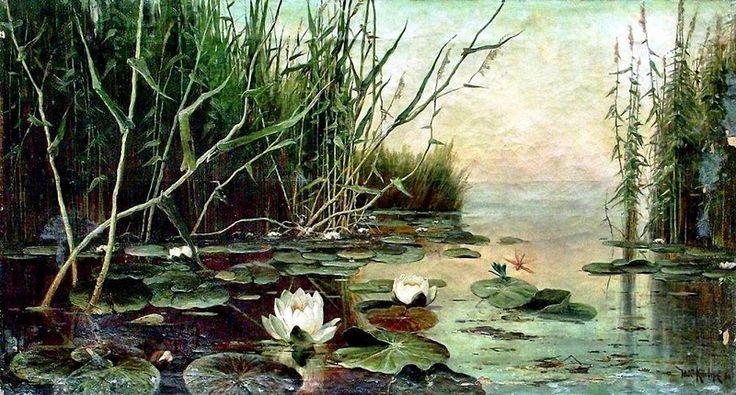 Озеро с водяными лилиями. Юлий Клевер