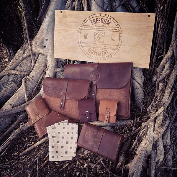 Leather accessories from Freedom of Movement