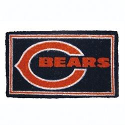 Chicago Bears NFL Football Authentic Logo Indoor Outdoor Welcome Mat