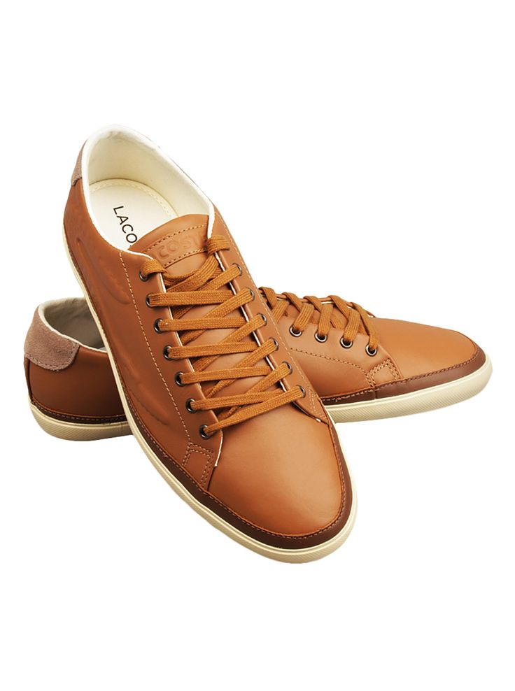 Lacoste Men Bocana 6 Shoes in Tan. Wear the casual sneaker with style.