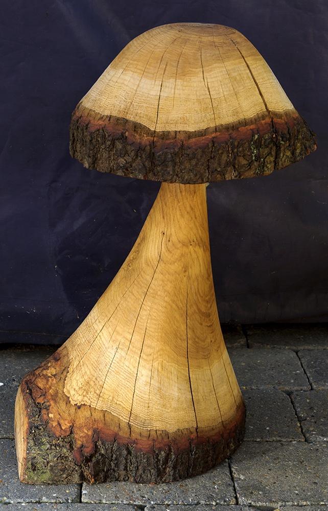 Wood carvings mushroom wood carvings
