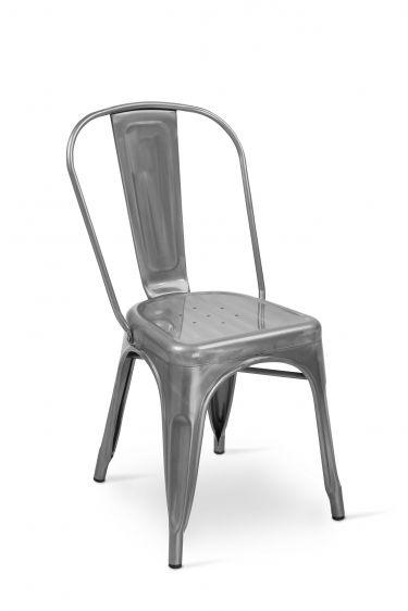 #Sedia OLMO in silver #metallo per la #cucina o il #giardino di #tendenza. Ottima anche per l'#outdoor di #bar e #ristoranti. In vendita scontata su www.CHAIRSOUTLET.com