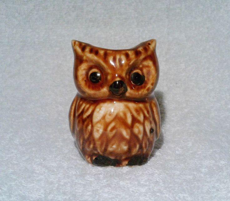 Vintage Owl Pottery Toothpick Holder